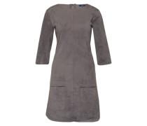 Kleid in Wildlederoptik grau