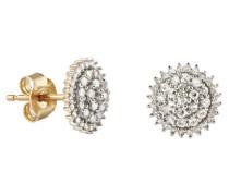Paar Ohrstecker mit Diamanten