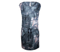 Print-Kleid aus Baumwolle und Seide mischfarben