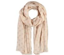 Polyester-Baumwoll-Schal beige / puder