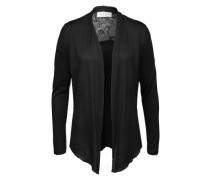 Jerseyjacke mit Spitze schwarz