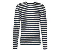 Pullover navy / grau / weiß