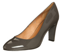 Pumps aus Lackleder grau