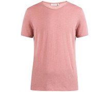 T-Shirt 'Sev Slit Linen' altrosa