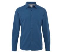 Hemd 'mini check' blau