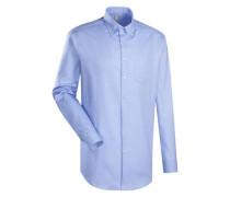 City-Hemd 'Custom Fit' blau