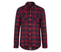 Hemdbluse 'Mepedo Shirt' blau / rot