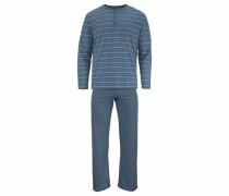 langer Pyjama pastellblau / petrol