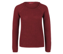 Pullover aus Musterstrick rot