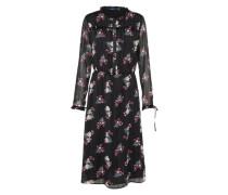 Kleid mit Rüschen schwarz