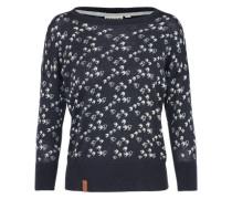 Pullover 'Maja' dunkelblau / weiß