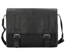 Turnham Messenger Leder 40cm Laptopfach schwarz