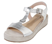 Sandalette im Metallic-Look silber