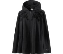 Swan Cape Sweatshirt Damen schwarz