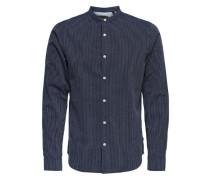 Gestreiftes Langarmhemd blau