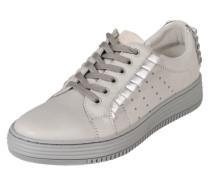 Sneaker mit Metallicverzierung hellgrau / silber