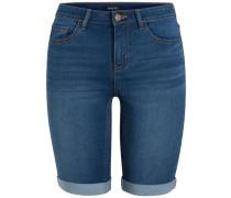 Lange Jeans-Shorts blau