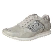 Sneaker mit Glitzer-Verzierung silber