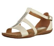Sandalen braun / weiß