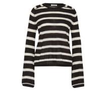 Wollpullover 'Violetta' schwarz / weiß