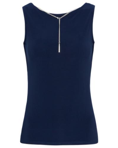 Bluse 'necklace Back Shell' navy