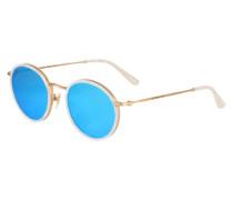Sonnenbrille 'Amsterdam' blau / weiß