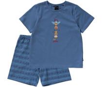 Schlafanzug blau / dunkelblau