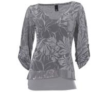 Shirt-Zweiteiler grau