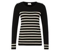 Pullover 'Bafina knit' schwarz / weiß