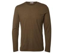 T-Shirt mit Rundhalsausschnitt braun