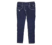 Treggings Skinny: Bestickte Jeans blau