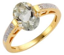 Ring mit Amethyst und Weißtopas gold