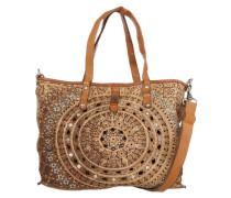 Handtasche mit Lochmuster beige / braun