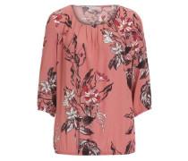 Bluse mit Blumenprint rot
