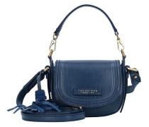 Pearldistrict Handtasche Leder 16 cm blau