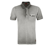 Poloshirt in Cold Pigment Dye grau
