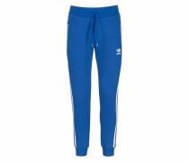 Trainingshose 'regular TP Cuffed' royalblau / weiß