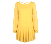 Chiffon-Minikleid gelb