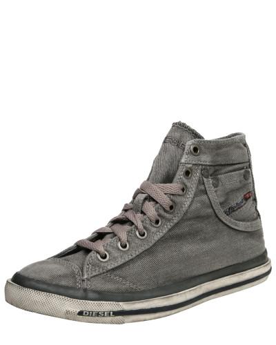 Diesel Damen 'Exposure' Sneakers grey denim Verkauf Authentisch jUBIL