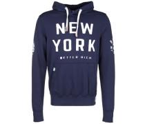 Kapuzensweatshirt 'new York' blau