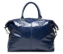 Weekend Reisetasche Leder 45 cm blau