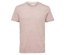 Rundhalsausschnitt-T-Shirt altrosa
