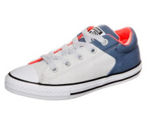 Sneaker 'Chuck Taylor All Star High Street Slip OX' blue denim / neonorange / weiß
