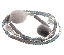 Armband 'Beads and Charms' silber