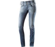 Goldie Sweat Jeans Damen blue denim