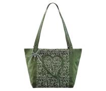 Trachtentasche in glänzender Optik grün
