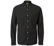 Oxford-Langarmhemd tanne