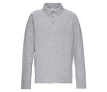"langärmeliges Poloshirt ""nitpascal"" grau"
