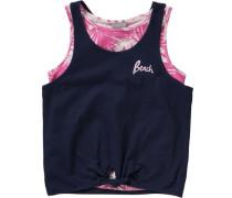 Top für Mädchen dunkelblau / pink