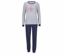 Pyjama im Marine-Look marine / weiß
